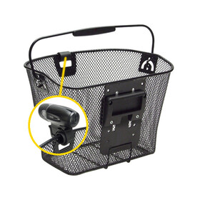 KlickFix Uni Korb mit Lampenhalter schwarz